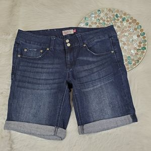 3 PC Lot SO Bermuda Jean Shorts Cuffed Mid Rise